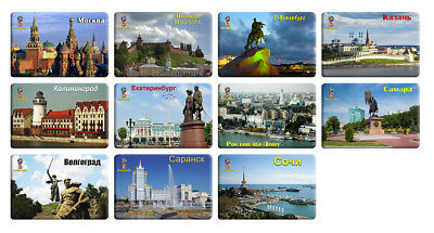 RUSSIA 2018 FIFA WORLD CUP - 11 fridge magnets - Cities of the championship