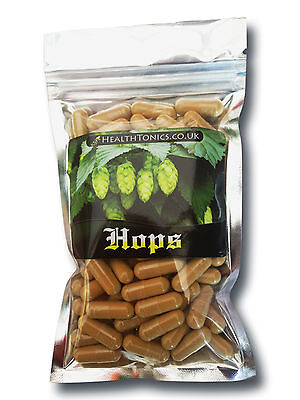 Hops Flower Extract (10:1 equivalent to 2,500mg ), Vegetarian Capsules