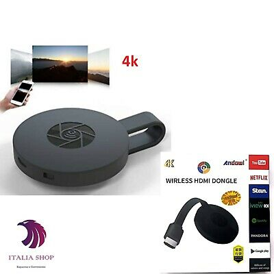 CHIAVETTA HDMI WIFI IPTV 4k MIRACAST SMART TV MEDIA DONGLE WIRELESS