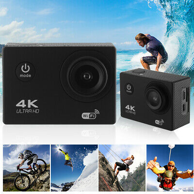 4K UHD 1080P 30M Waterproof Sport Camera WiFi Wide Angle Action Camcorder LF819