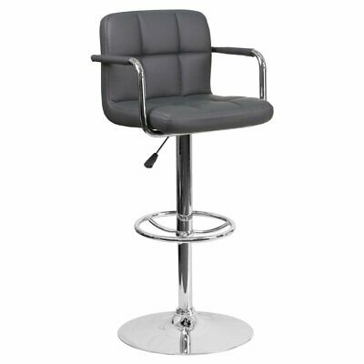 Pleasing Contemporary Adjustable Height High Back Swivel Bar Stool In Gmtry Best Dining Table And Chair Ideas Images Gmtryco
