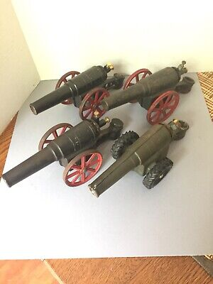 Conestoga BIG BANG cast iron CANNONS - LOT of 4 working cannons, 6F (3) and 60mm