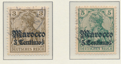 Germany, Offices In Morocco Stamps Scott #33 To 36, Used, Short Set