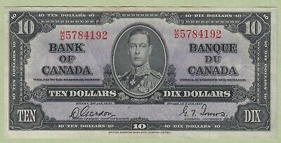 1937 Bank of Canada Ten Dollars Note - Coyne/Towers - B/T8319258 - AU