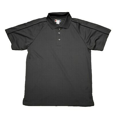 af1c091f Men's Polo Shirt CLIQUE Classic Three Button MOISTURE CONTROL Small S  Gray/Black