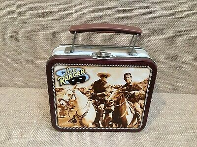 "Collectible The Lone Ranger Metal Tin Lunch Box Mini Size 5-1/2"" X 4-1/2"""