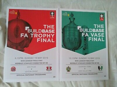 The Buildbase FA TROPHY FINAL AFC Fylde vs Leyton Orient 19/05/2019 PROGRAMME!