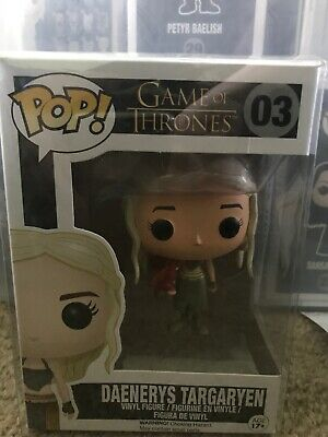 Funko POP Game of Thrones Daenerys Targaryen #03 with Red Dragon Figure RARE