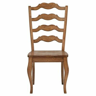 Weston Home Farmhouse French Ladder Back Dining Side Chair - Set of 2