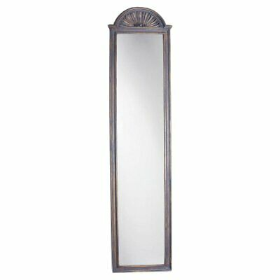 Hickory Manor House Shell Top Strip Wall Mirror - 11W x 46.25H in.