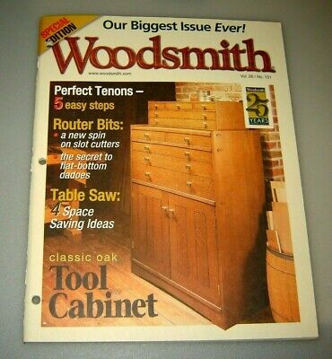 Woodsmith Magazine Classic Oak Tool Cabinet Vol 26 Issue 151 March 2004