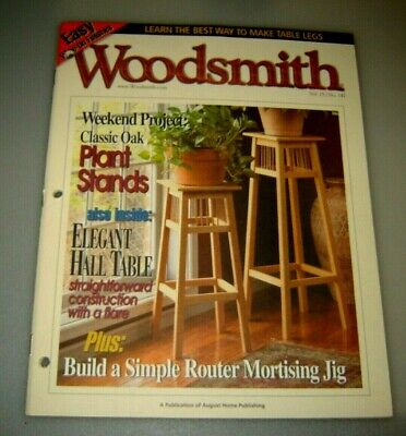 Woodsmith Magazine Classic Oak Plant Stand Elegant Hall Table Vol 25 Issue 147