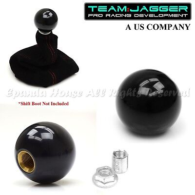 TEAM JAGGER PLAIN METAL MANUAL GEAR SHIFT KNOB GREEN M12 THREADED FOR TOYOTA