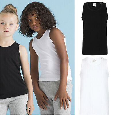 SF Mini Kids Feel Good Stretch Vest SM123 - Junior Cotton Sleeveless Tank Top