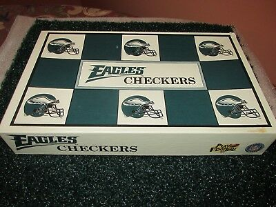 Vintage 1993 Philadelphia Eagles vs Dallas Cowboys NFL Checkers Game