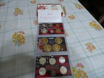 2008   United States Mint Silver Proof Set  Half Dollar  Quarters  Nickel  Cent