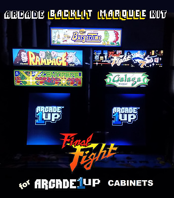 Arcade1up Final Fight Backlit Marquee Kit for Arcade1up Cabinets
