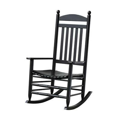 Bradley Black Rocking Chair Quick And Easy Assembly Slat Patio Construction