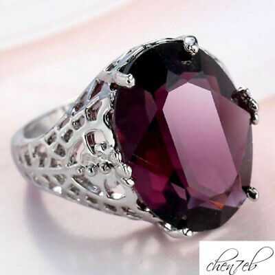Engagement Size 6-10 Natural Wedding 6Ct Bridal Ring Alexandrite 925 Silver Huge