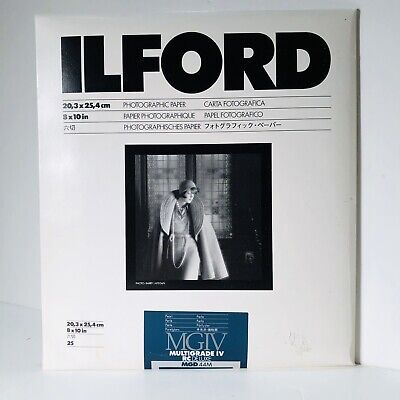 ILFORD IV RC DELUXE RESIN B/W PAPER 8x10in  25 Pearl    PHOTOGRAPHIC PAPER     M