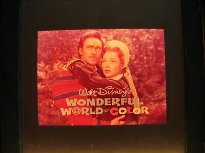 "Vintage WALT DISNEY ""WONDERFUL WORLD OF COLOR"" Promo~NBC Television Bumper Slide"