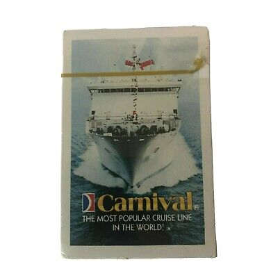 Deck Of Playing Cards Carnival Cruise Line New In Box Sealed Pack