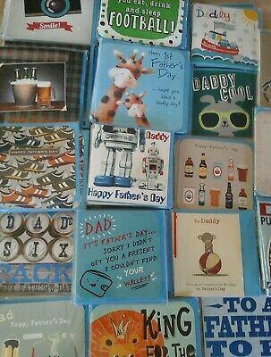 50 Fathers Day W Cards Wholesale Joblot Greeting Cards