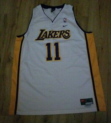 e7828a73a49 Los Angeles Lakers Karl Malone sewn Nike jersey men's size-XL length + 2 New