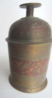 Combination Brass Bell and Canister  Made in India  1013/12M on bottom