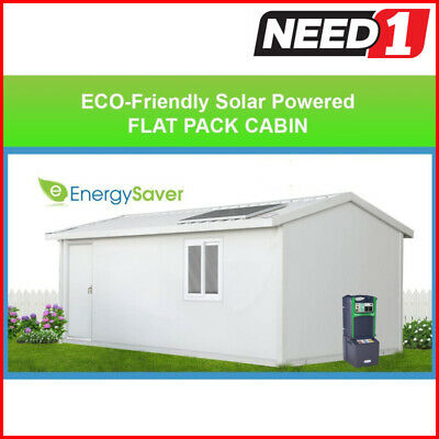 ECO-Friendly Solar Flat Pack Cabin, Granny Flat, Office, Fully Insulated