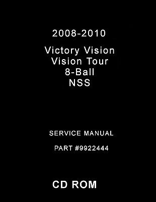 2008-2010 Victory Vision Street/Tour Service Manual CD