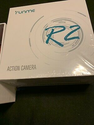 RUNME R2 4K Sports Action Camera, 12MP Wi-Fi Camera 170-Degree Wide-Angle... New