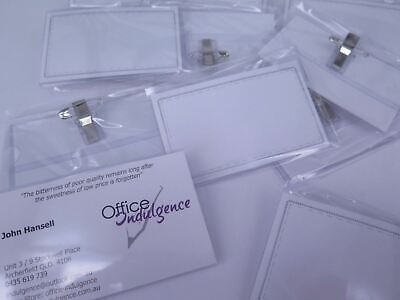 200 x Convention Name Badge & Card Holder W/ Pin Clip & Insert Conference