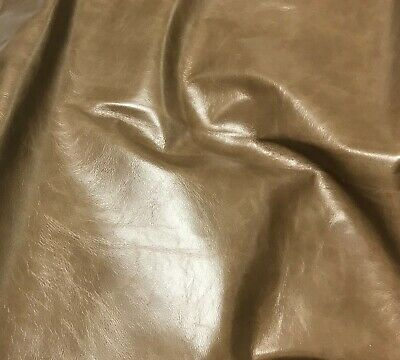 "LIGHT BROWN Cow Hide Leather 8""x8"" Piece"
