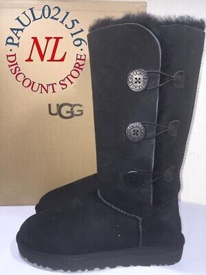 4231809565a UGG BAILEY BUTTON Triplet Bomber #3049 Distressed Sheepskin Tall ...