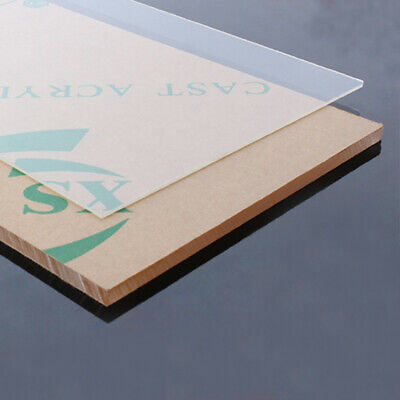 1PC 20x30cm Clear Plastic Acrylic Plexiglass Perspex Sheet Extruded Glass Board