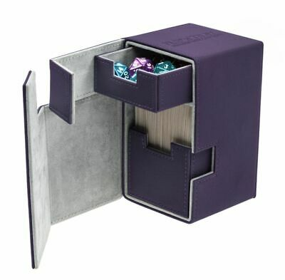 Ultimate Guard - Flip'N'Tray Xenoskin Deck Case 100+ Purple - Gaming Boxing Card