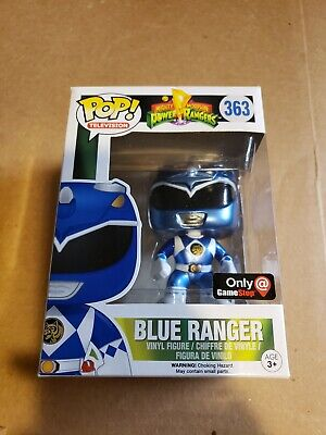 Funko Pop Metallic Blue Power Ranger Gamestop exclusive