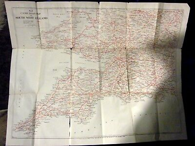 Geographia Road Map of South West England and South Wales (POST WAR)