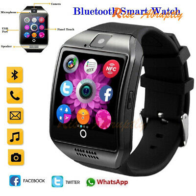 Q18 NFC Bluetooth Smart Wrist Watch SIM GSM Phone Health Mate For Android IOS