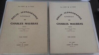 Roger Joseph Jean Forges Biblio Charles Maurras T1+2 Complet 1953 Broche N°99