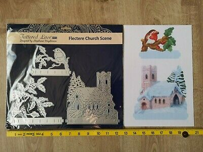Tattered Lace Flectere Church Scene Die Set + Free Charisma Paper Pack