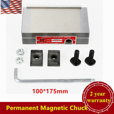 """100*175mm(4"""" X 7"""") Permanent Magnetic Chuck For Grinding Machine 100N-120N USA"""