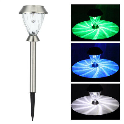 New LED Outdoor Stainless Steel White Color Changing Solar Lawn Light Pathway