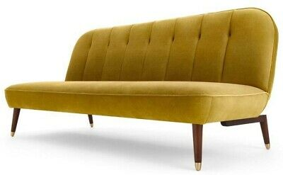 MADE.COM Margot Click Clack Sofa Bed, Vintage Gold Velvet RRP £499