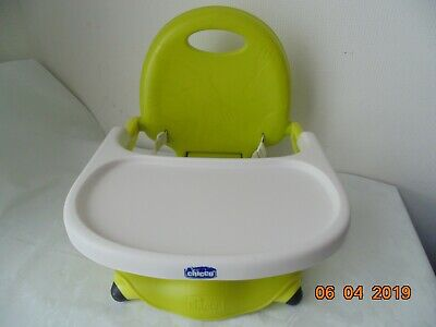 Chicco Booster Seat Travel High Chair Toddler Green Fold Up Pistachio FREE P&P