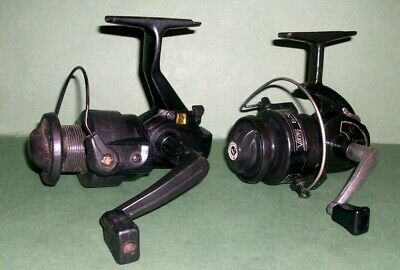 A pair of vintage light action spinning reels from Korea - Eagle Claw and Viking