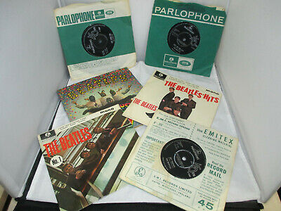 A collection of original Beatles 7 inch singles