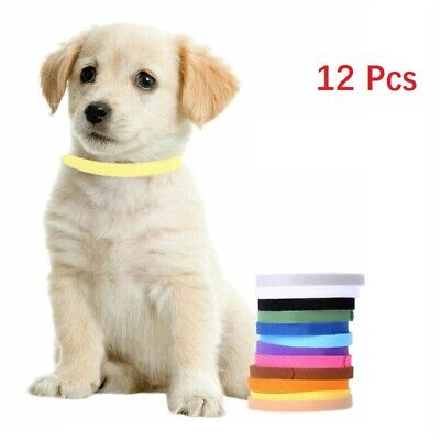 12 Whelp ID collars Whelping Puppy & Kitten ID Velcro Collar Bands For Breeders