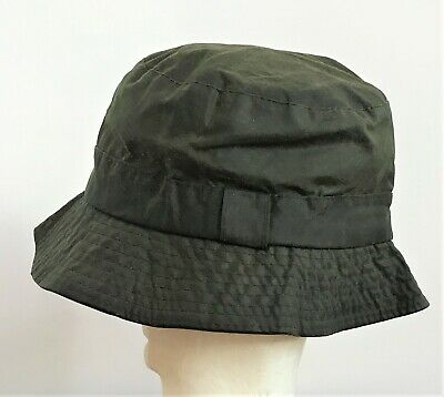 Vintage Barbour A115 Waxed Hat Green Size L